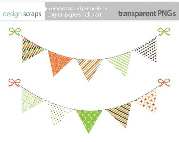 autumn banner clip art graphics flag bunting by designscraps
