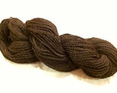 100% Alpaca Yarn, Super-Soft, Natural Bay Black (Brown-Black) Color, 3oz, approx 200 yards