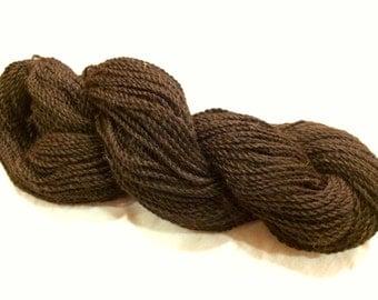 100% Alpaca Yarn, Super-Soft, Natural Bay Black (Brown-Black) Color, 3oz, approx 200 yards