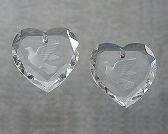 Swarovski Vintage Art 6226 Dove-Heart Pendants 18mmn (2)