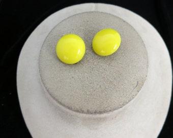 Vintage Bright Yellow Earrings