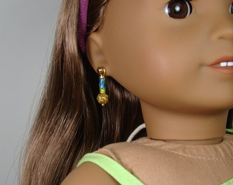 "Cloisonne Earring Dangles for 18"" Play Dolls such as American Girl®"