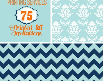 Printing Services for 75, 5X7 size invitation including envelopes