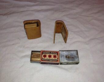 Miniature matchsticks book covers