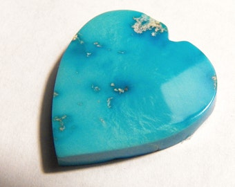Turquoise Heart-Shaped Cabochon