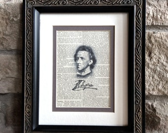 Elegant Chopin Print - A Meaningful Gift for a Pianist, Piano Teacher, Composer, Musician - Also Bach Mozart Beethoven Wagner Haydn Brahms