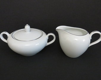 Royal M by Mita Porcelain Sugar and Creamer Set