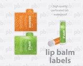 Custom Printed Lip Balm Labels