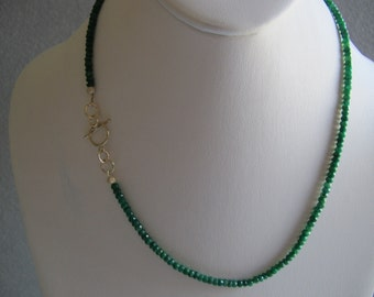 Genuine Emerald Eternity Necklace