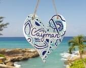 Ceramic Zentangle Cayman Heart