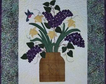 Spring Garden - Wool on Batik Applique Pattern