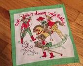 Reserved for MIRANDA - expect home com goods custom Eat Your Dam Vegetables framed embroidery art