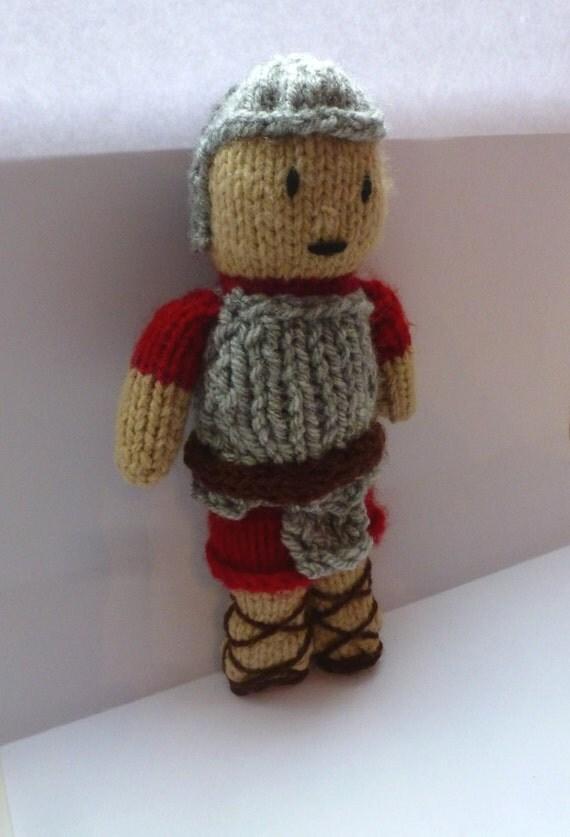 PDF knitting pattern: Roman Soldier from NerdKnitting on Etsy Studio