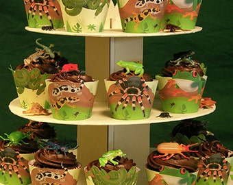 Insect / Reptile Party Cupcake Wrappers