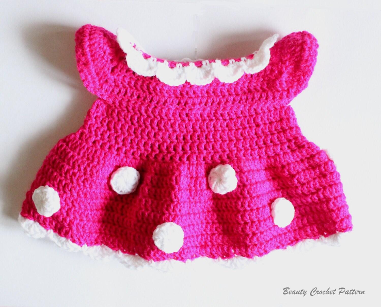Crochet Dress Pattern Miss Bow Mouse By Beautycrochetpattern