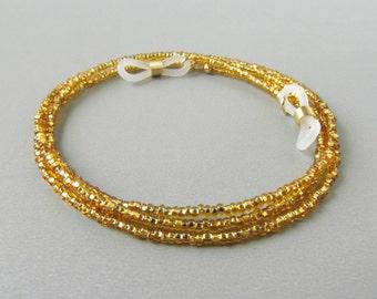 Gold Eyeglass Necklace Holder. Eyeglass Chain. Reading Glasses Chain. Gold Glasses Holder. Eyeglasses Chain. Chain for Glasses. True.
