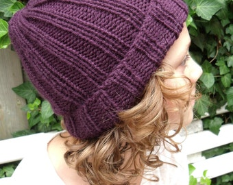 simple aubergine-coloured unisex Hat