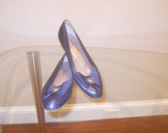 Vintage Blue Bally Loafers