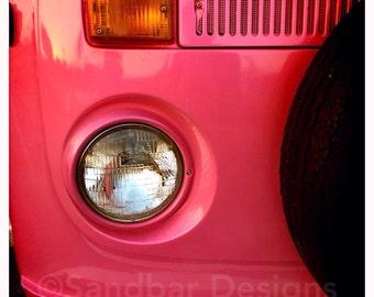Barbie pink VW bus