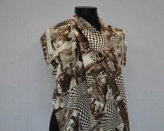 Vintage CODELLO long silk scarf ....
