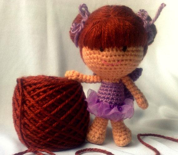 Amigurumi doll - Embroidered eyes Crochet doll - Crocheted ...