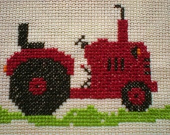 Vintage tractor Counted Cross Stitch Kit