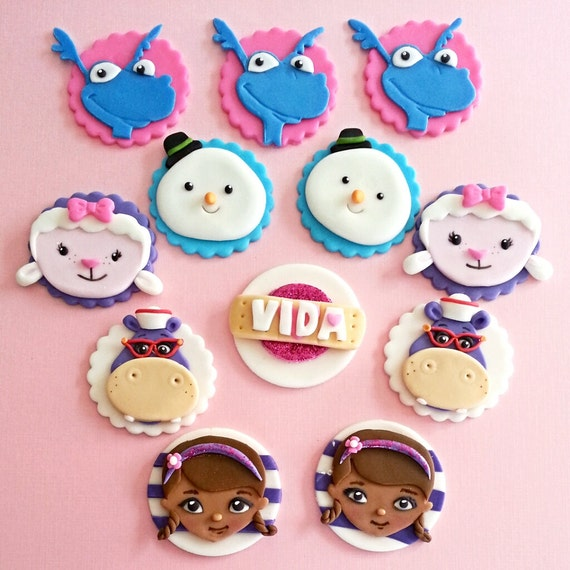 Doc Mcstuffins Cake And Cupcake Toppers