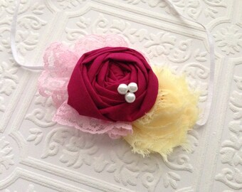 The Cranberry Crush Headband or Hair Clip