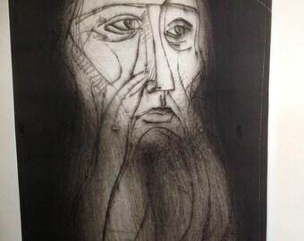 Irving Amen Woodcut Artists Proof Jeremiah