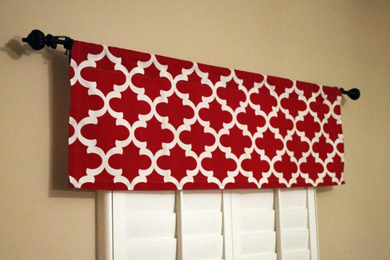 Kitchen Valance Curtains Red Window Valance Kitchen Window