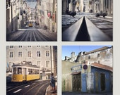 Lisbon, Portugal photography. Set of 8 photograhs of Lisbon. Fine art photography.Portugal Print Set.Pingeon.Etsy Wall Art