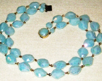 Turquoise Faux Jade Necklace.