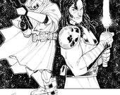 Original Art: Commander Faie and Quinlan Vos