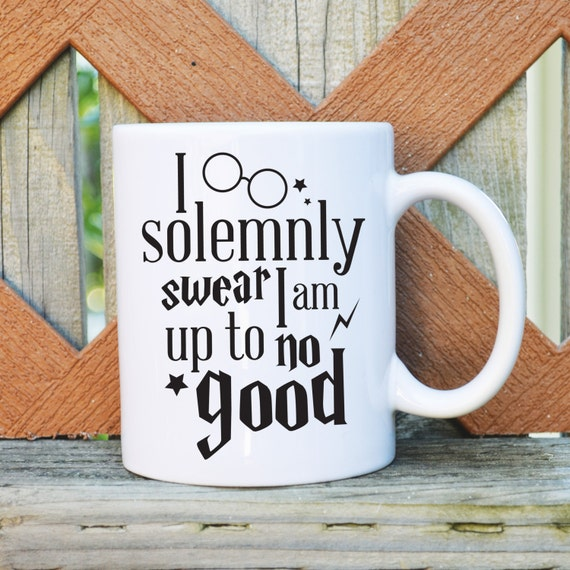 I solemnly swear I am up to no good - Harry Potter Inspired - 11 or 15 oz. Coffee Mug - Tickled Teal