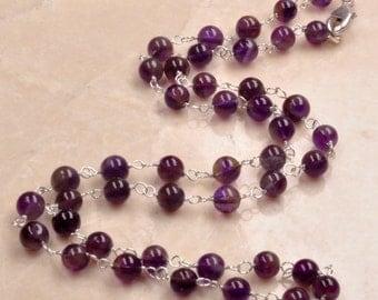 Amethyst round Necklace
