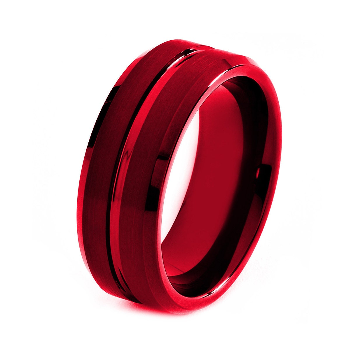 black tungsten ring red men tungsten rings red by giftflavors