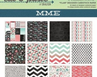 My Mind's Eye CUT & PASTE - FLAIR - 6x6 Scrapbook Cardstock Paper Pad - Great for mini albums and card making!