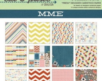 My Mind's Eye CUT & PASTE - PRESH - 6x6 Scrapbook Cardstock Paper Pad - Great for mini albums and card making!