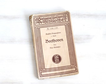 Vintage Beethoven German Opera program Brown beige , ohtteam,