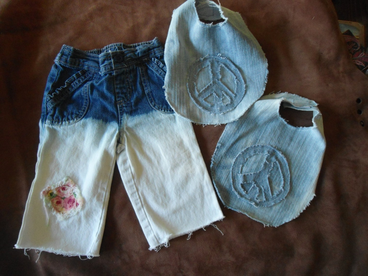 Baby Gifts For Hippie Parents : Hippie jeans newborn gift set baby size months on sale