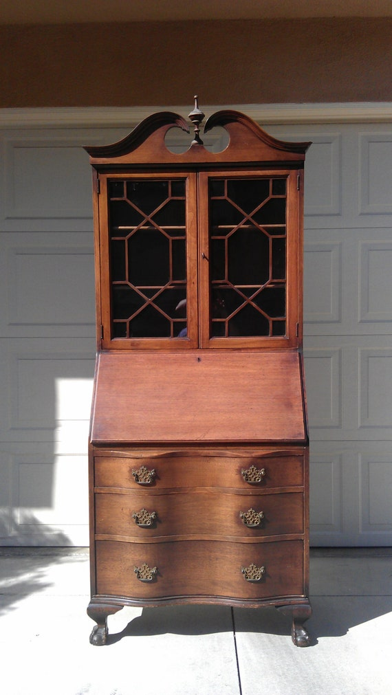 On Hold For Will Chippendale Secretary Hutch Desk Antique