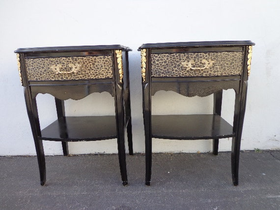 Sold french provincial nightstands shabby chic by dejavudecors for French nightstand bedside table