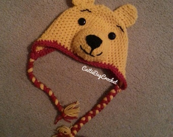 Crochet Winnie the Pooh Inspired Hat