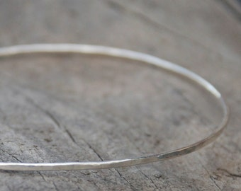 Dainty Argentium Sterling Silver Bangle