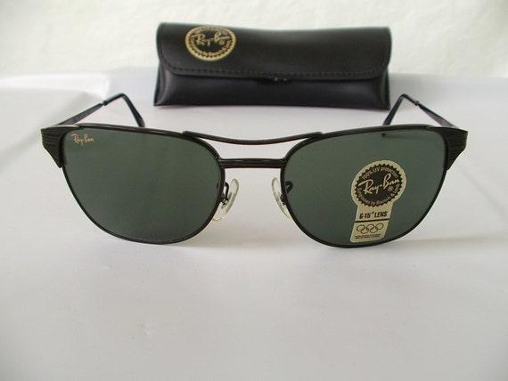 e4999d2aa7be9 Vintage B l Ray Ban W0741 Black