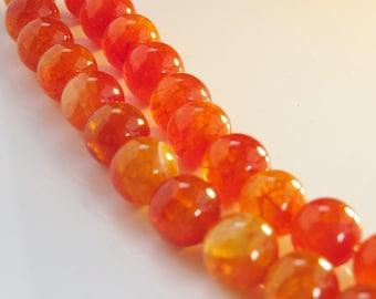 Amber fire agate
