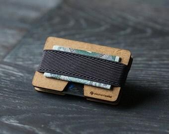 Modern design wallet, wooden wallet, credit card wallet, women and men wallet, minimalist slim, N wallet, Elephant Wallet
