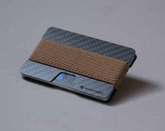 Women's wallet, men's wallet, carbon fiber wallet, credit card wallet, minimalist wallet, slim wallet, modern design wallet, n wallet