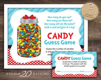 instant download dr seuss inspired candy guessing game baby shower candy guess game boy girl. Black Bedroom Furniture Sets. Home Design Ideas