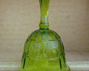 Viking Glass Avocado Green Bell